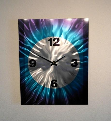 Metal Art Wall Art Decor Abstract Contemporary Modern  Wall Clock Regarding Abstract Clock Wall Art (Image 16 of 20)