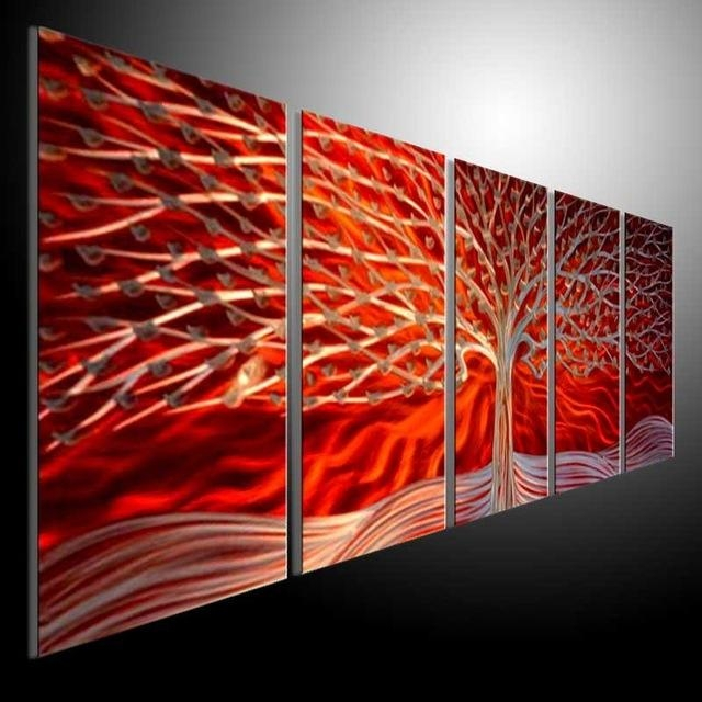 Metal Modern Abstract Wall Art Painting Sculpture Decor Metal For Sculpture Abstract Wall Art (Image 10 of 20)