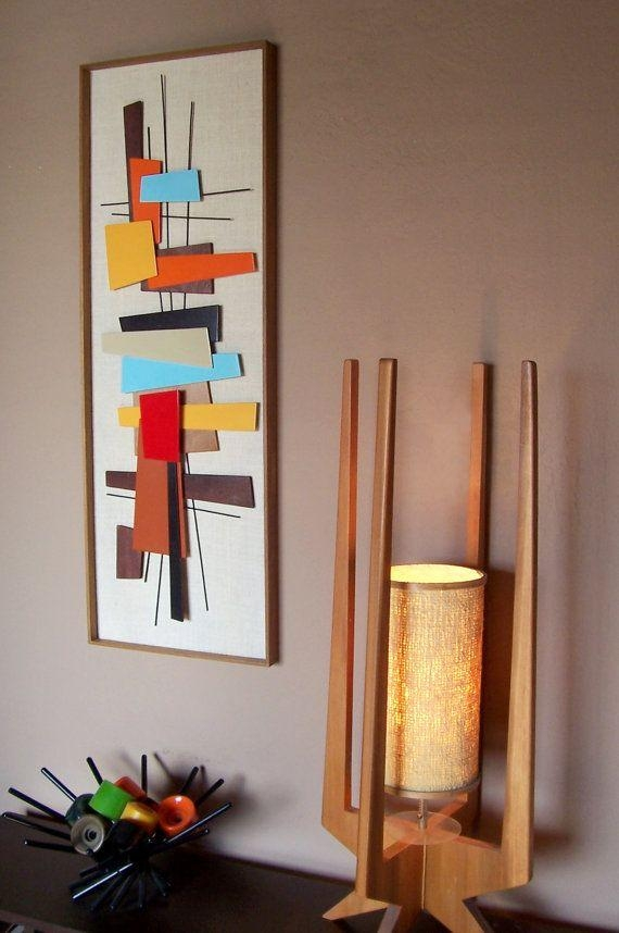 Mid Century Modern Abstract Wall Art Sculpture Painting Retro In Diy Modern Abstract Wall Art (Image 15 of 20)