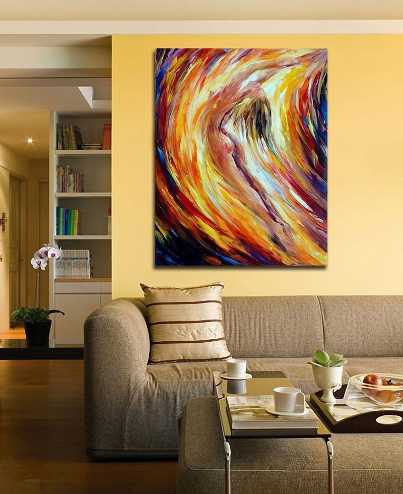 Modern 100% Hand Painted Canvas Oil Paintings Nude Woman Abstract In Abstract Body Wall Art (Image 15 of 20)