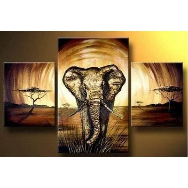 Modern Abstract Huge Wall Art Oil Painting On Canvas  | Oil Within Abstract Elephant Wall Art (Image 16 of 20)