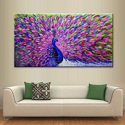Modern Abstract Large Wall Decor Oil Painting On Art Canvas For Dark Purple Abstract Wall Art (View 19 of 20)