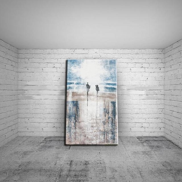 Modern Art Abstract Landscape Abstract Beach Oil Painting On Pertaining To Abstract Beach Wall Art (Image 13 of 20)