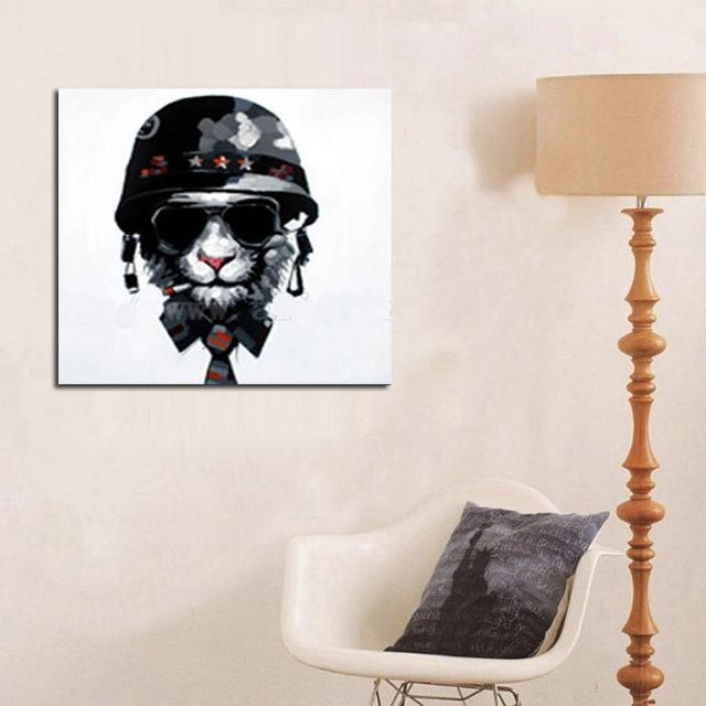Modern Art Good Quality Animal Oil Painting Wall Art Abstract Dog Within Abstract Dog Wall Art (Image 12 of 20)