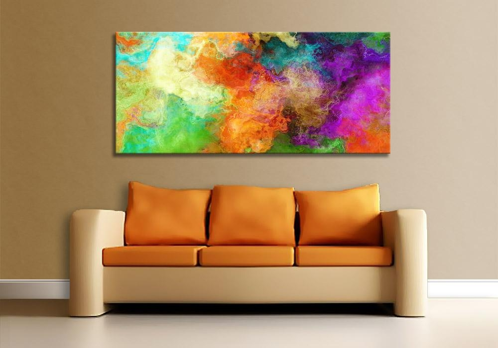 Modern Art Print On Canvas – Mother Earth With Regard To Big Abstract Wall Art (Image 13 of 20)