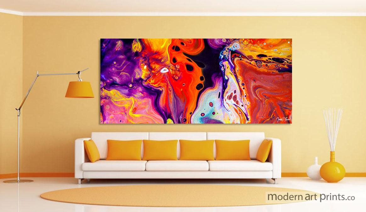 Modern Art Prints – Framed Wall Art | Large Canvas Prints With Contemporary Abstract Wall Art (Image 15 of 20)