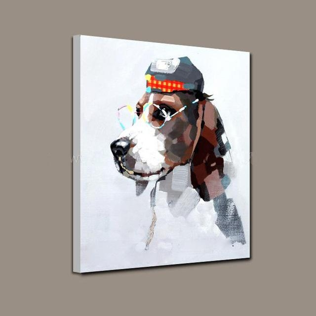 Modern Art Wholesale Good Quality Animal Oil Painting Abstract Dog Intended For Abstract Dog Wall Art (Image 14 of 20)