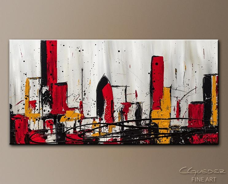 Modern City Abstract Art|Abstract Wall Art Paintings For Sale In Contemporary Abstract Wall Art (Image 16 of 20)