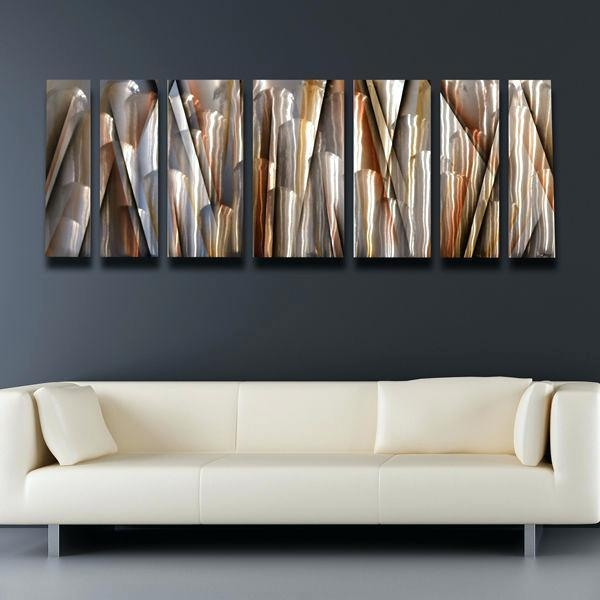 Modern Metal Wall Art Decor Ripple Effect Modern Abstract Metal Within Abstract Metal Wall Art (Image 16 of 20)