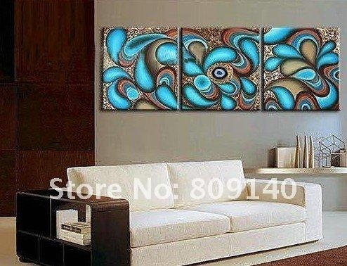 Modern Oil Painting Canvas Abstract Decoration Blue High Quality Pertaining To Abstract Wall Art For Office (View 7 of 20)