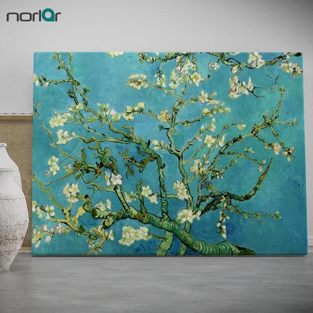 Modern Wall Art Picture Almond Blossomvincent Van Gogh Prints With Almond Blossoms Vincent Van Gogh Wall Art (Image 10 of 20)