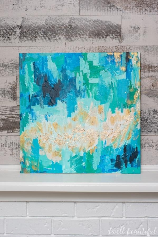 Monthly Diy Challenge: Abstract Canvas Art That Anyone Can Make For Dwell Abstract Wall Art (Image 12 of 20)