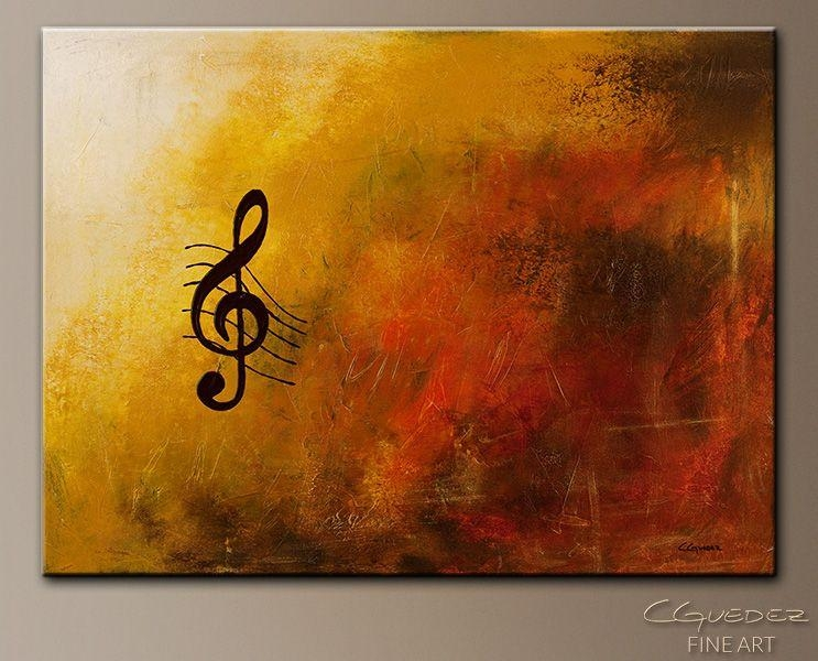 Music Paintings | Abstract Art Paintings – G Symphony – Music Art With Regard To Abstract Musical Notes Piano Jazz Wall Artwork (Image 12 of 20)