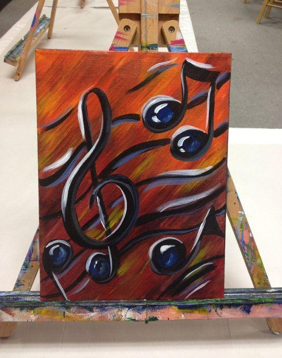 Musical Notes Paintings – Google Search | Canvas Painting Ideas With Regard To Abstract Musical Notes Piano Jazz Wall Artwork (Image 13 of 20)
