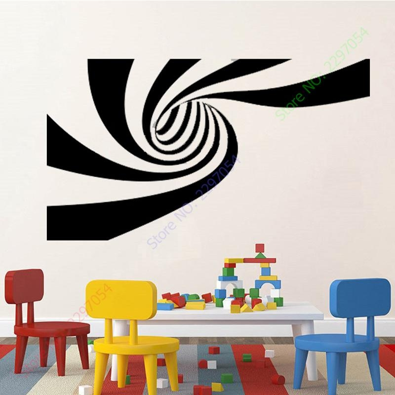 New 2 Different Designs 3D Abstract Vinyl Wall Sticker Art Wall In Abstract Art Wall Decal (Photo 7 of 20)
