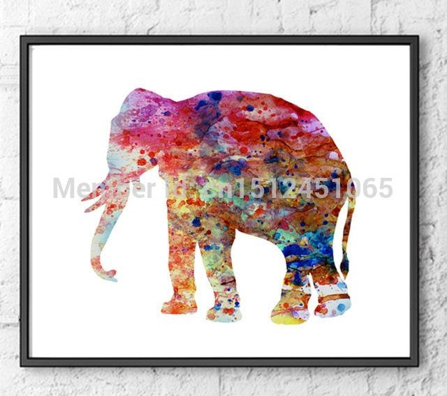 New Kids Children Beautiful Wall Art Decor Living Room Bedroom Within Abstract Elephant Wall Art (Image 17 of 20)