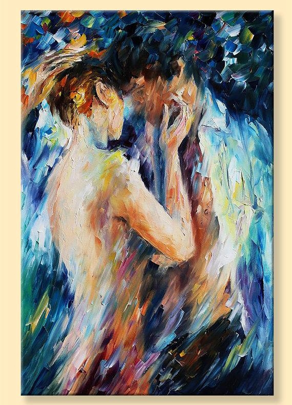 Nude Wall Art Kiss Of Passion Limited Edition Naked Woman For Limited Edition Wall Art (View 11 of 20)