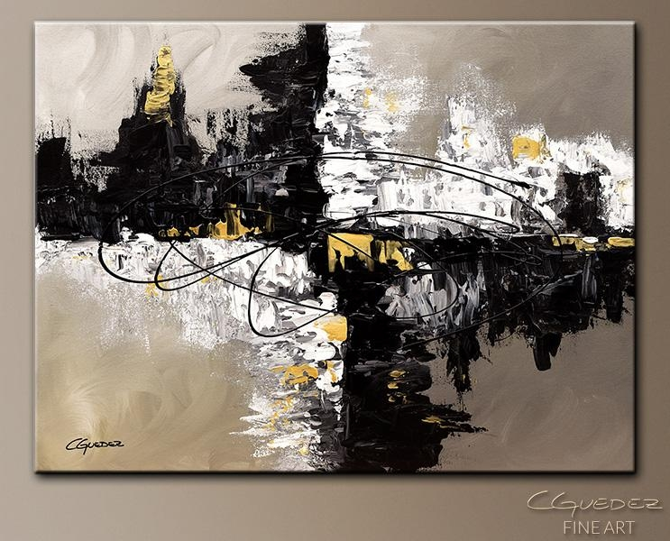 Featured Image of Black And Gold Abstract Wall Art