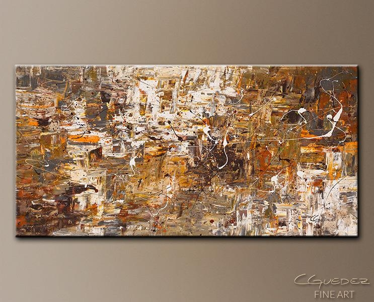 Original Oversized Art Paintings For Sale Above And Beyond – Large Pertaining To Brown Abstract Wall Art (Image 14 of 20)