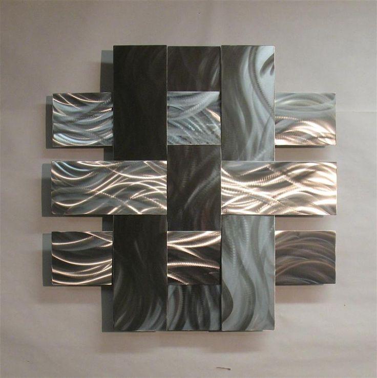 Outdoor Metal Wall Decor Steel Wall Art Wall Sculptures Metal Wall Within Abstract Aluminium Wall Art (View 13 of 20)