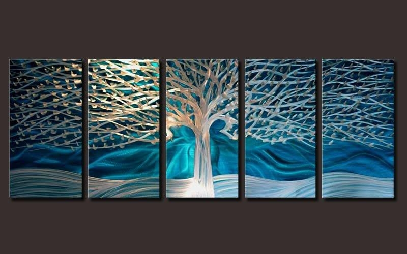 Outstanding Artwork Metal Wall Art Painting Abstract Wall Artwork Within Blue Canvas Abstract Wall Art (View 12 of 20)