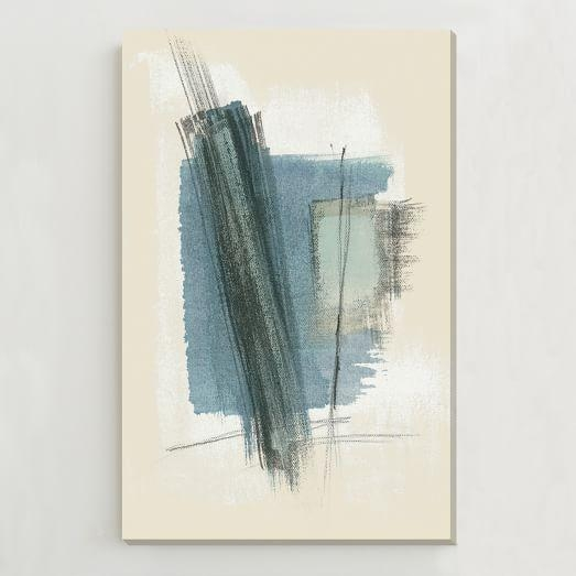 Oversized Abstract Wall Art | West Elm Inside Blue Abstract Wall Art (Image 17 of 20)