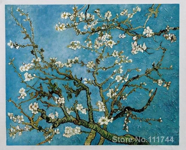 Paintingsvincent Van Gogh Almond Blossom Hand Painted Art On Inside Almond Blossoms Vincent Van Gogh Wall Art (Image 11 of 20)