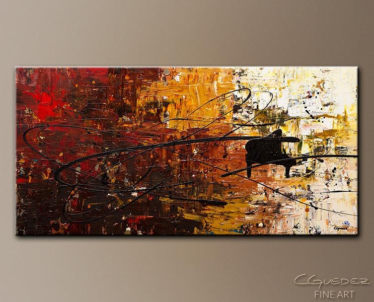 Piano Paintings – Google Search | Piano | Pinterest | Pianos For Abstract Musical Notes Piano Jazz Wall Artwork (View 10 of 20)