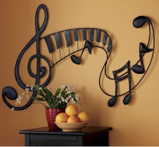 Pretty Sure I Should Paint Something Like This On My Little Music Inside Abstract Musical Notes Piano Jazz Wall Artwork (View 7 of 20)