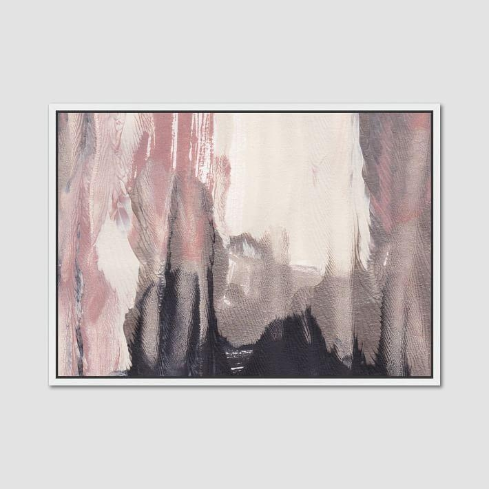 Rabbit Sandstorms Blush Abstract Wall Art Throughout Framed Abstract Wall Art (Image 14 of 20)