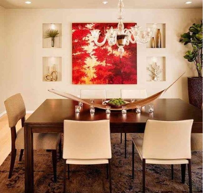 Red And White Abstract Wall Art For Dining Room Ideas | Decolover With Regard To Abstract Wall Art For Dining Room (Image 14 of 20)