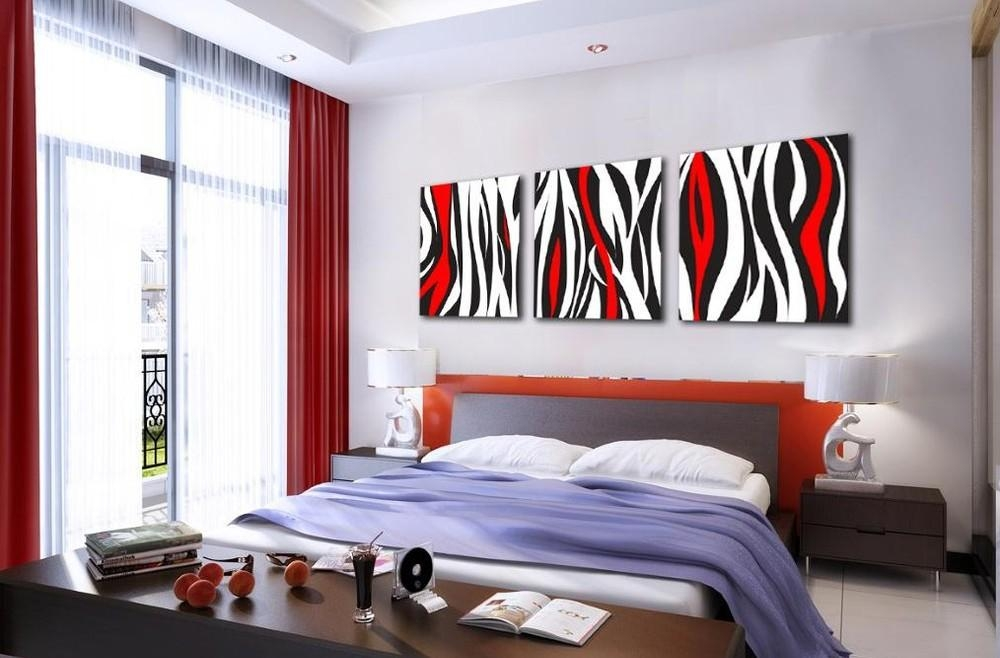 Red Modern Abstract Wall Art Oil Painting Canvas Large – Dma Homes Within Abstract Wall Art For Bedroom (Image 16 of 20)