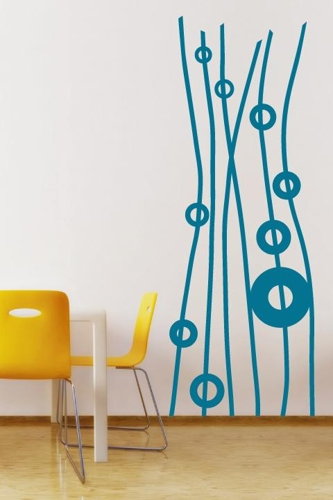 Remarkable Graphic Wall Decals Sample White Stickers Behind Within Abstract Art Wall Decal (Image 15 of 20)