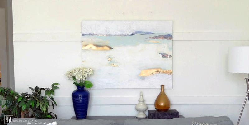 Remodelaholic | How To Successfully Paint An Abstract Painting Inside Diy Abstract Canvas Wall Art (Photo 19 of 20)