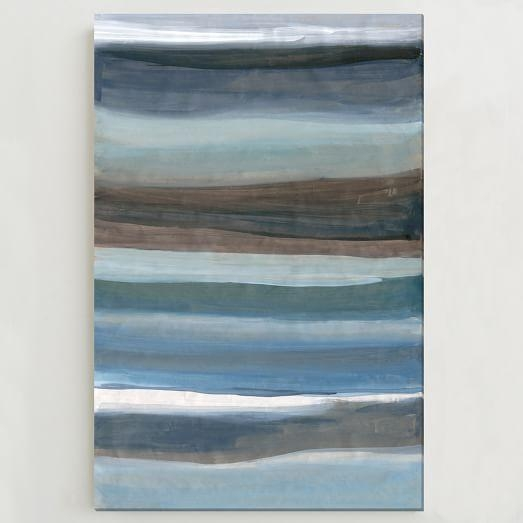 Sarah Campbell Wall Art – Oversized Abstract Waves | West Elm Regarding West Elm Abstract Wall Art (Image 19 of 20)