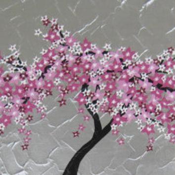 Shop Cherry Blossom Tree Wall Art On Wanelo Within Abstract Cherry Blossom Wall Art (Image 20 of 20)