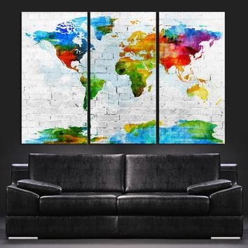 Shop Colorful Abstract Wall Art On Wanelo With Colourful Abstract Wall Art (Image 11 of 20)