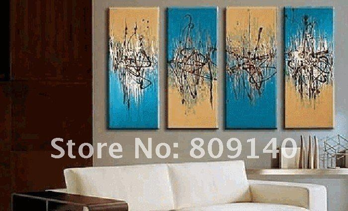 Stretched Simple Black White Grey Abstract Oil Painting Artwork Inside Abstract Wall Art For Office (View 6 of 20)