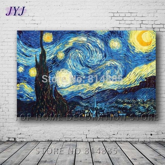 The Starry Night 1889Vincent Van Gogh Top Quality Famous With Vincent Van Gogh Wall Art (Image 14 of 20)