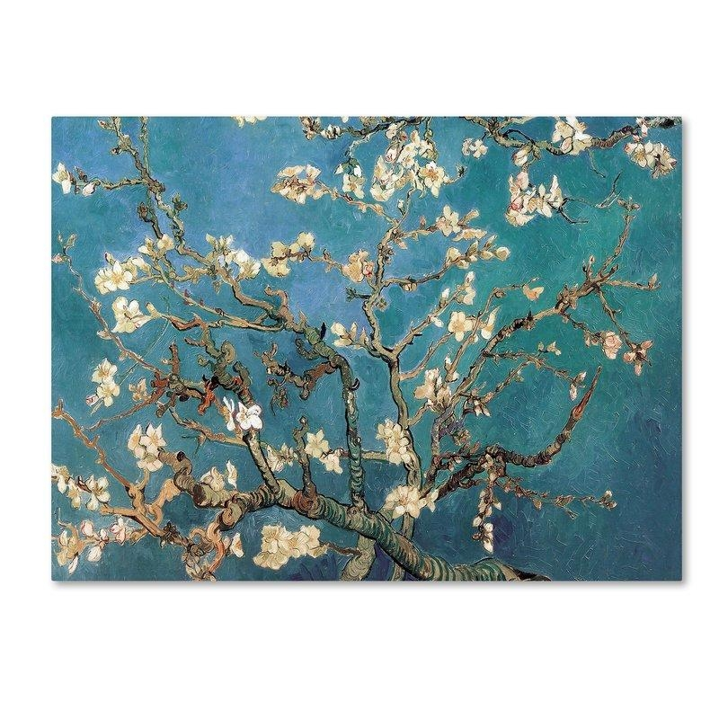 Trademark Art Almond Blossoms'vincent Van Gogh Framed On In Almond Blossoms Vincent Van Gogh Wall Art (Image 12 of 20)