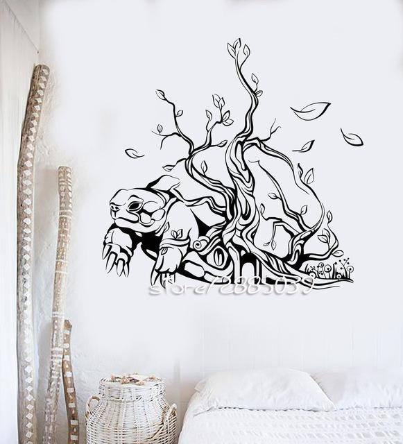 Turtle Tree House Interior Wall Stickers Abstract Art Vinyl Wall Within Abstract Art Wall Decal (Image 18 of 20)