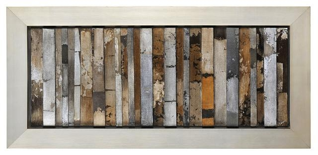 "Urban Abstract Wall Art, 49""x22"" Rustic Fine Art Prints Within Pertaining To Abstract Wall Art Prints (Image 17 of 20)"