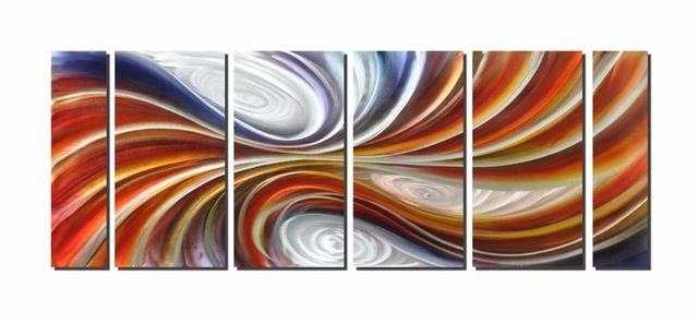 Vortex Excellent Metal Aluminum Wall Art Original Large Abstract Intended For Abstract Aluminium Wall Art (Photo 18 of 20)