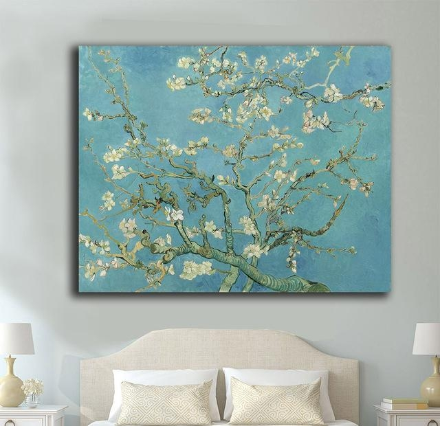 Wall Art Almond Blossomvincent Van Gogh Canvas Painting For Pertaining To Almond Blossoms Vincent Van Gogh Wall Art (Image 19 of 20)