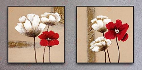 Wall Art: Beautiful Images About Red Flower Canvas Wall Art Large Pertaining To Abstract Floral Wall Art (Image 19 of 20)