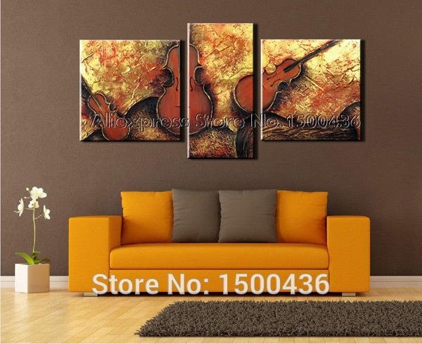 Wall Art Design: 3 Piece Abstract Wall Art Canvas, 3 Piece Pertaining To Brown Abstract Wall Art (Image 17 of 20)