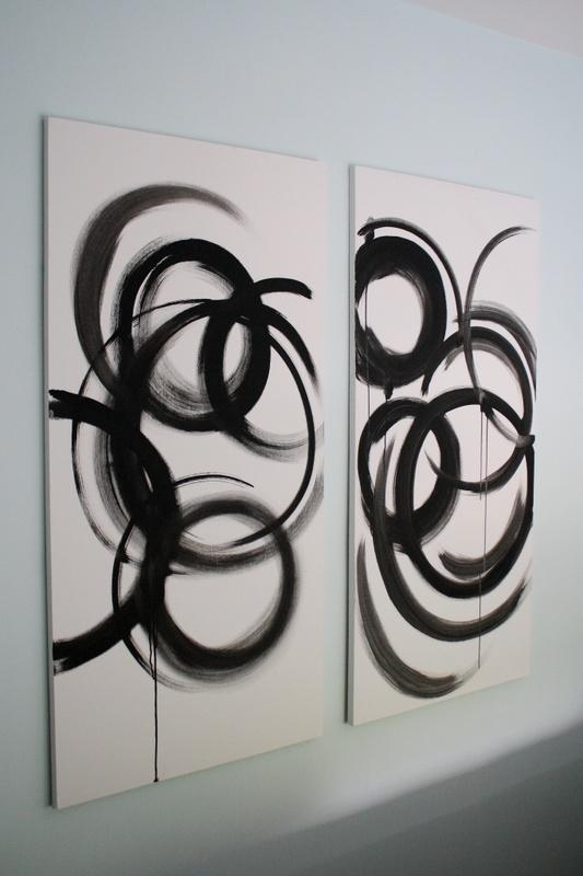 Wall Art Design: Black And White Abstract Wall Art Rectangle 2 In Black And White Abstract Wall Art (Image 17 of 20)