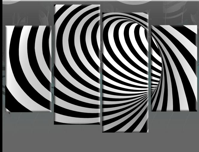 Wall Art Design: Black And White Abstract Wall Art Rectangle In Black And White Abstract Wall Art (Image 18 of 20)