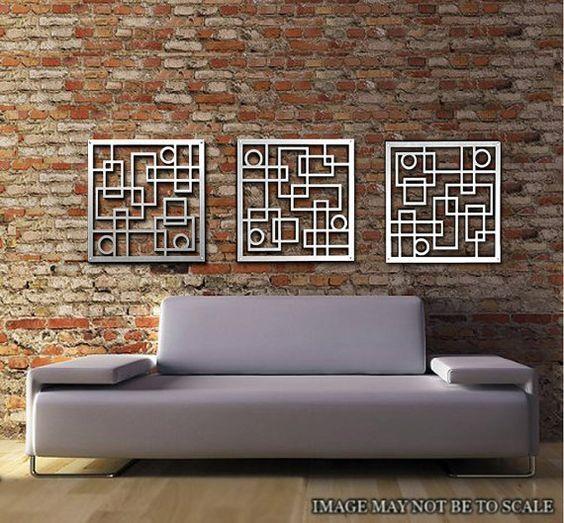 Wall Art Designs: Best 20 Metal Wall Art Decor And Sculptures Regarding Sculpture Abstract Wall Art (Image 14 of 20)
