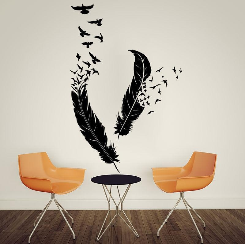 Wall Art Designs: Bird Wall Art Abstract Feathers Flying Birds Within Abstract Bird Wall Art (Image 20 of 20)